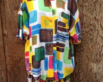 Vintage Art Deco Print Outfit // Ladies // Beachwear