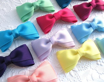 Hair Bows for Toddlers Girls ~ Simple Hair Bows ~ Hair Clips ~ Boutique Bows ~ Set of Hair Bows