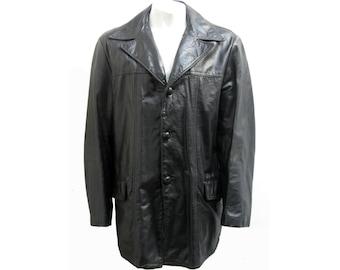 Leather car coat | Etsy