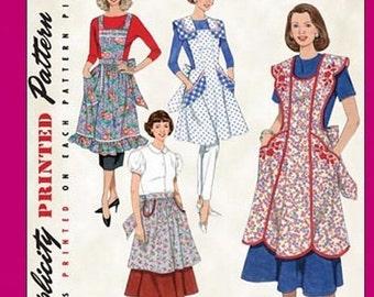 ON SALE Simplicity 3544 - Misses '48 and '52 Vintage Style Aprons - SZ S/M/L - Simplicity Patterns