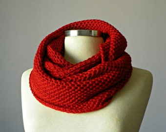 Crazy Scarf,  infinty  scarf, handmade crochet chunky neckwarmer fashion women accessories, multicolor