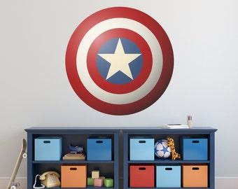 Vinyl Wall Decal Sticker Art, Superhero Shield
