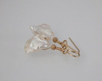 Freshwater Keishi Pearl Gold Filled Earrings, Keishi Pearl Earrings, Pearl Earrings, Pearl Jewelry, June Birthstone, Birthstone Jewelry
