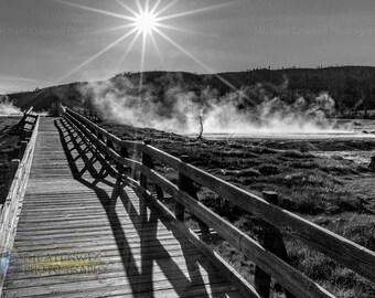 Sapphire Pool Mystique, Yellowstone NP Fine Art Photographic Print