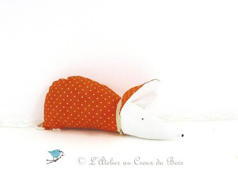 Orange organic lavender sachet with polka dots : Clementine by L Atelier au Creux du Bois