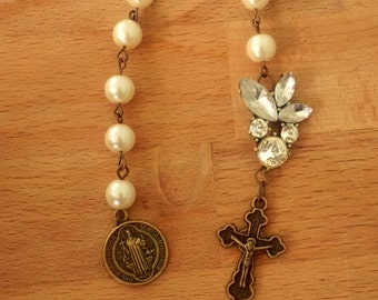 Pearl and Rhinestone Chaplet Tenner