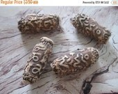20% OFF ON SALE Brown Clay 12mmx32mm Beads, 4 pcs