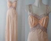 Vintage Nightgown, Vintage Nightgowns, 1930s Nightgown, 1930s Lady Lynne, Lady Lynne, Bias Cut Nightgown, Romantic, Coronet by Lady Lynne