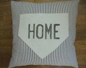 Ticking Stripe Home Plate Pillow
