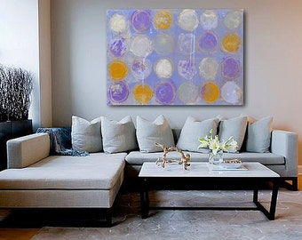 Painting 24x36 canvas art purple. lavender abstract decorative painting