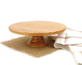 Wooden Red Oak Cake Stand / Pedestal Cake Plate /Cupcake Stand