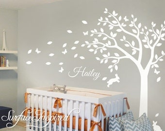 Wall Decal Nursery Wall Decals Tree Decal With Adorable - Monogram wall decal for kids