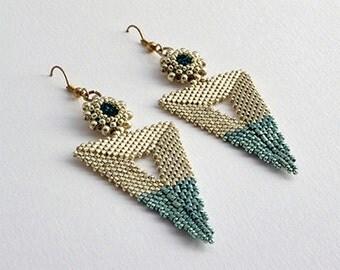 Bermuda Triangle Earrings Silver/Blue