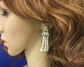 Great Gatsby Earrings, Flapper 1920s  Earrings, Art Deco Earrings