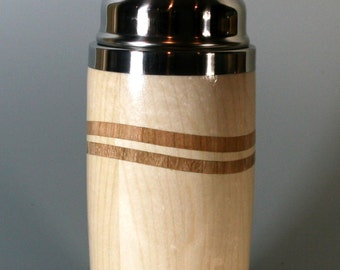 Wavy Maple and Cherry Cocktail Shaker