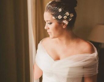 Wedding Cover Up, Bridal Bolero, Tulle Bridal Wrap, Shawl, Wedding Shrug in White and Ivory