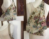 ON SALE Vintage 80s / Crason Rogers / Floral / Tapestry / Purse