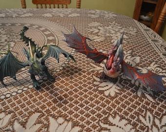 HASBRO DRAGONHEART DRAGONS-dragon action figures-1996-set of 2