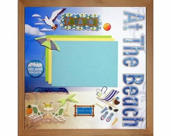 WELCOME TO PARADISE Pre-made Memory Album Page (Gallery Wood Frame Sold Separately)
