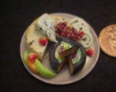 dollhouse porcelain miniature appetizer tray assorted cheese  IGMA Fellow J Uyetake