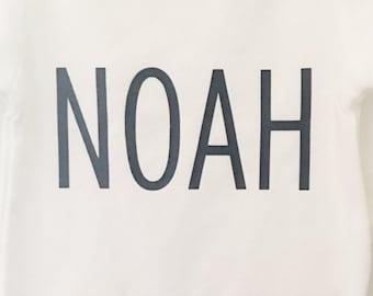 Name Shirt; Baby Boy Bodysuit; Baby Name Clothing; Custom Name Baby Clothes