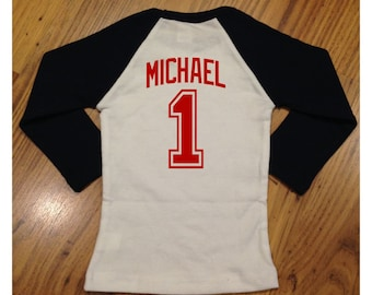 Add-on name or number for back of shirt