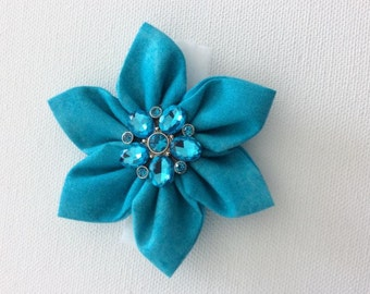 Turquoise Dog Collar Flower- Ready to Ship