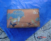 Reserved for Billy Ray - Antique Hinged Canco Bird Tin - Lovely