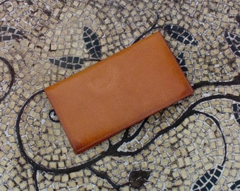 Vintage Carter Pigskin Leather Note Book Address Book and Change Bill fold - Great Condition