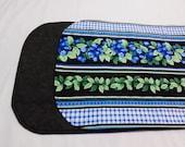 Blueberry Table Runner, Quilted Table Runner, Blueberry Table Mat, Blueberry Decor, Gift Under 20