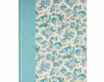 Recipe Book Blank FLORENTINE TEAL
