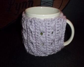 Mug Cozy-Crochet-Pastel Lavendar