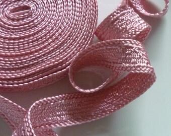 Art silk Moroccan trim, Rose Quartz, textured trim,  5metres