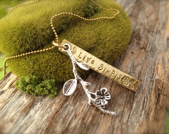Live Simply Flower Branch Necklace