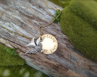 Bird Trust Your Heart Necklace