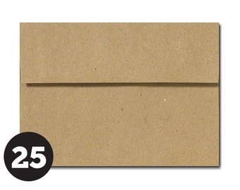 Brown Paper Bag Kraft Envelopes in A1 4Bar and A7 sizes Invitations, Photos, RSVP and Cards, Grocery Bag, Pack of 25