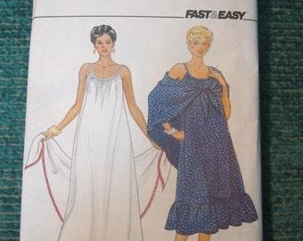 Butterick 4362 Vintage 1970's Ruffle Bottom Spaghetti Strap Maxi Maternity Dress Pattern with Shawl -Maternity Maxi Dress Pattern -Size 14