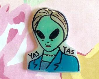 Hillary Clinton brooch, presidental pin, lapel, pinback, im with her, Hillary 2016, tumblr, feminist wearable art, feminist banner