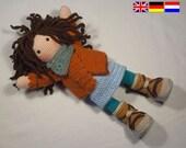 Crochet pattern for doll MONJA (Deutsch, English, Nederlands)