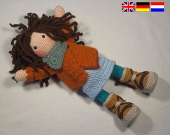 Crochet pattern for doll MONJA (Deutsch, English, Nederlands)