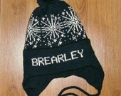 Winter hat with snowflakes done in any size and color, School hats