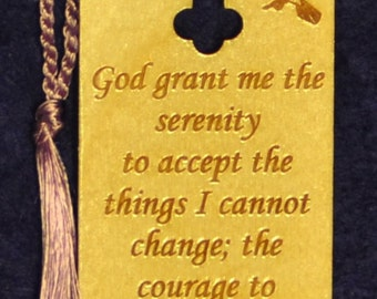 Wood Scripture Bookmark - Serenity Prayer