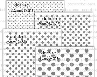 Mixed Media Stencils Polka Dots ~ Paperbabe Stamps - Laser Cut Mylar Stencils - For Mixed Media, Paper crafting and scrapbooking.
