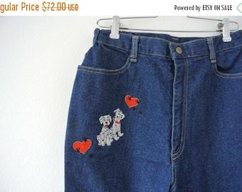 25% OFF SALE Vintage One Hundred and One Dalmatians Jeans - 101 Dalmatians Disney Pants