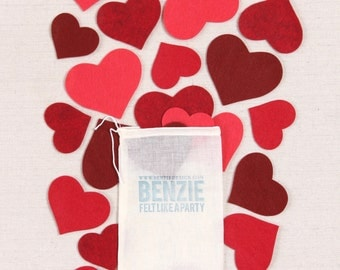 Large Felt Hearts // Felt-Fetti by Benzie // Heart Die Cuts, Valentine Party, Heart Garland, Heart Crafts, Felt Shapes, Big Felt Hearts