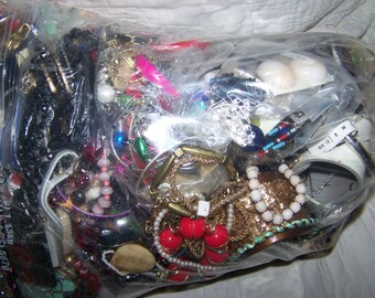 15+ lbs of Jewelry- wearable - Pieces Parts Wear