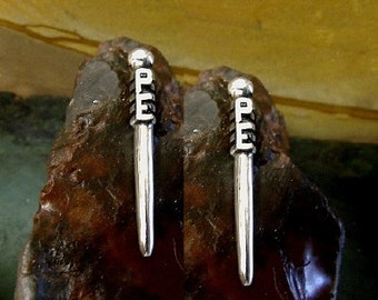 Cribbage Pegs With Initials Solid Sterling Silver Free Domestic Shipping