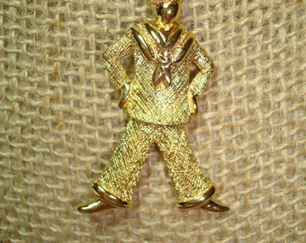 Vintage MONET Sailor Navy Pin.