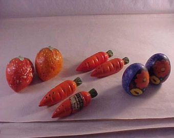 Salt and Pepper Sets Lot of 4 Pair