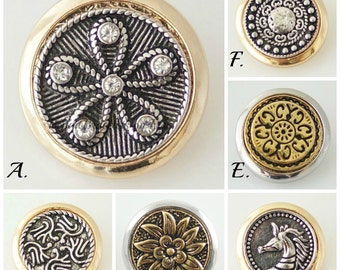Snap Charms for your 18-20 mm Ginger Snaps Jewelry. 20 mm snaps will fit 18-20 mm Snap Charm Jewelry.
